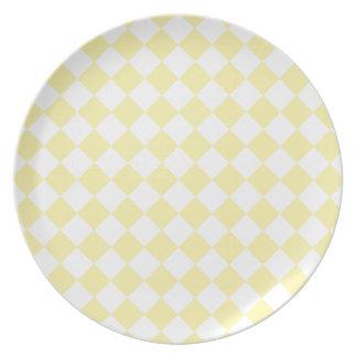 Rhombuses Large - Light Yellow and Corn Plates