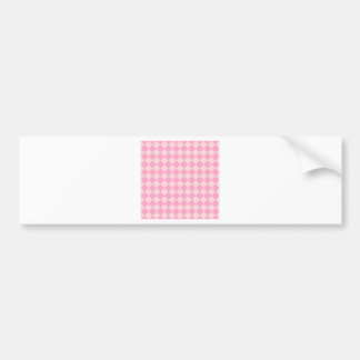 Rhombuses Large - Pale Pink and Carnation Pink Bumper Sticker