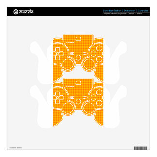 Rhombuses - Orange and Amber PS3 Controller Skins