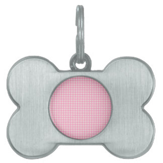 Rhombuses - Pale Pink and Carnation Pink Pet Tags
