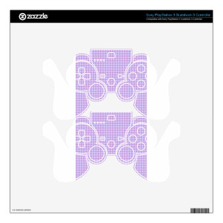 Rhombuses - Wisteria and Pale Lavender PS3 Controller Skins