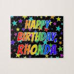 "[ Thumbnail: ""Rhonda"" First Name, Fun ""Happy Birthday"" Jigsaw Puzzle ]"