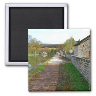 Rhône-Alpes canal French countryside 2 Inch Square Magnet