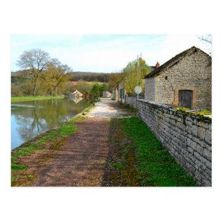 Rhône-Alpes canal French countryside Postcard