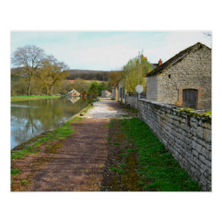 Rhône-Alpes canal French countryside Poster