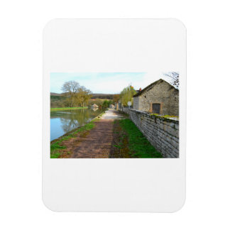 Rhône-Alpes canal French countryside Rectangular Photo Magnet