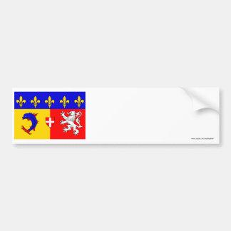 Rhône-Alpes flag Bumper Sticker