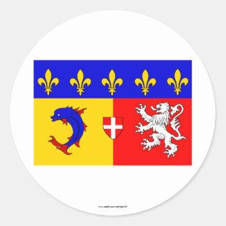 Rhône-Alpes flag Classic Round Sticker