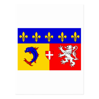 Rhône-Alpes flag Postcard