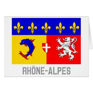 Rhône-Alpes flag with name Card
