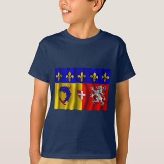 Rhône-Alpes waving flag T-Shirt