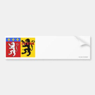 Rhône flag car bumper sticker