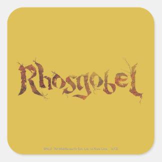 Rhosgobel Name Square Sticker