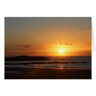 Rhosneigr Sunset. Card