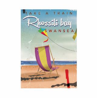 Rhossili bay, Swansea vintage travel poster Cutout
