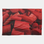 Rhubarb Abstract Kitchen Towels