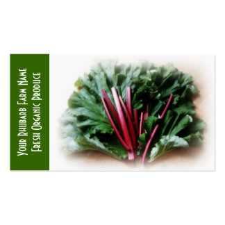 Rhubarb  and Leaves, Garden Growers Business Card