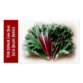 Rhubarb  and Leaves, Garden Growers Business Card Template