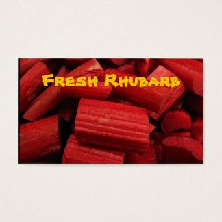 Rhubarb Business Card