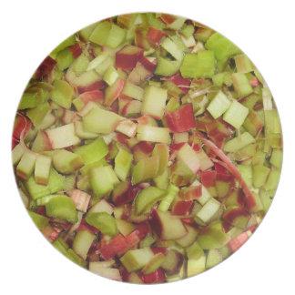 Rhubarb Dinner Plate
