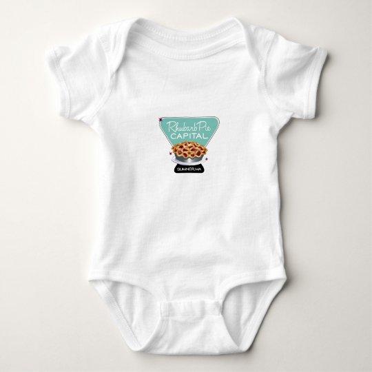 Rhubarb Pie Baby Bodysuit