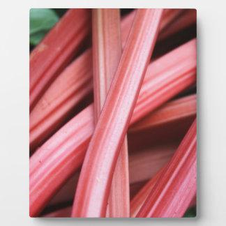 Rhubarb Plaque