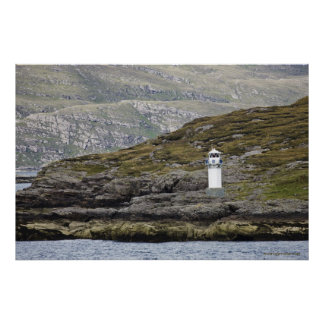Rhue Lighthouse Along The Coast Poster