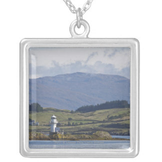 Rhue Lighthouse Silver Plated Necklace