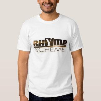 Rhyme Scheme T-Shirt (White, Medium)