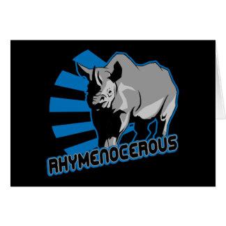 rhymenocerous hiphopapotamus card