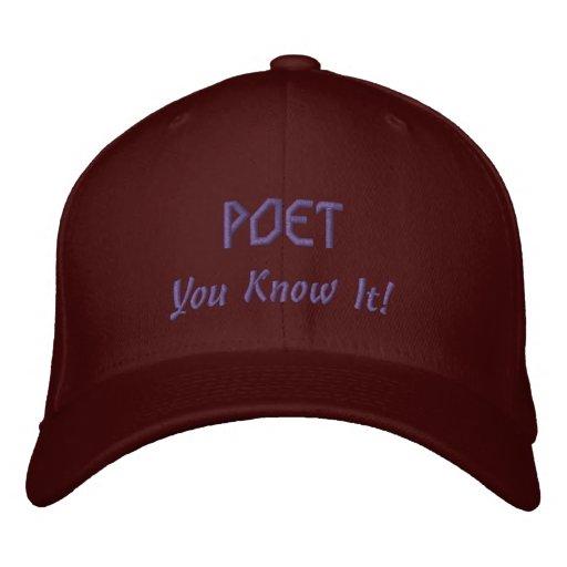 Rhyming POET Literary Lover Cap