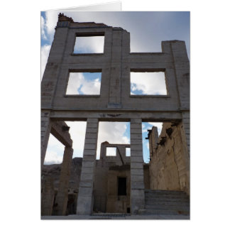Rhyolite Ghost Town - Ruins - Death Valley Card