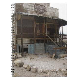 Rhyolite Mercantile Building Notebook