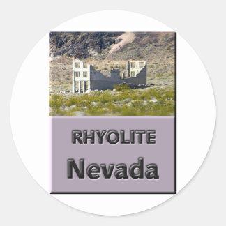 Rhyolite Nevada Classic Round Sticker