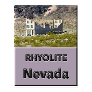 Rhyolite Nevada Postcard