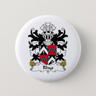 Rhys Family Crest Pinback Button