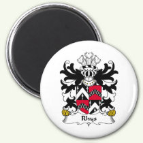 Rhys Family Crest Magnet
