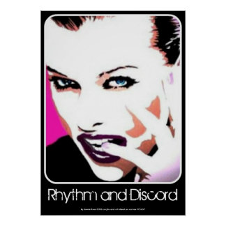 Rhythm and Discord painting on a Poster