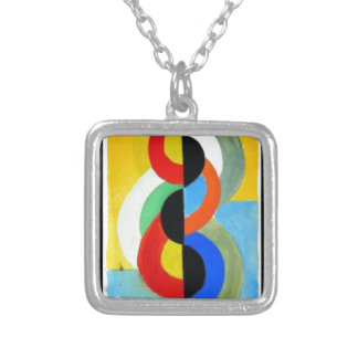 Rhythm Color by Robert Delaunay Square Pendant Necklace