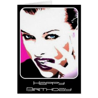 'Rhythm & Discord' painting on a Birthday Card
