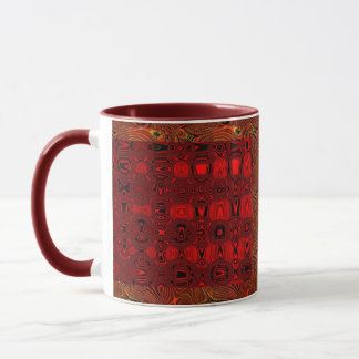 Rhythm in red mug