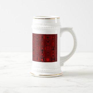 Rhythm in red coffee mugs