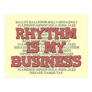 Rhythm Is My Business Postcard