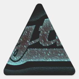 Rhythm.jpg Triangle Sticker