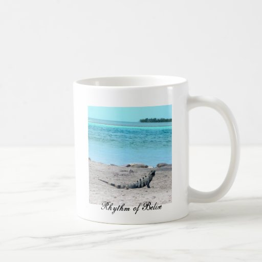Rhythm of Belize Iguana by  the sea Coffee Mugs