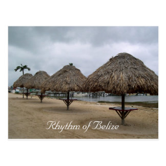 Rhythm of Belize Palapas Postcard