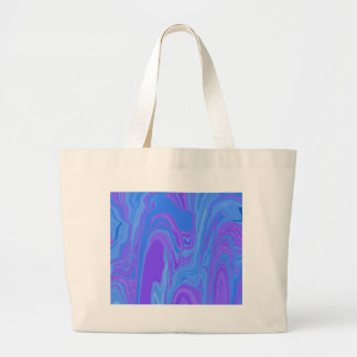 Rhythm of Color Abstract Art in Purple and Blue Jumbo Tote Bag