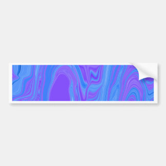 Rhythm of Color Abstract Art in Purple and Blue Bumper Sticker