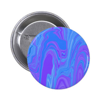 Rhythm of Color Abstract Art in Purple and Blue 2 Inch Round Button