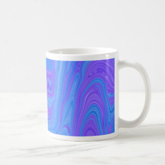 Rhythm of Color Abstract Art in Purple and Blue Coffee Mug